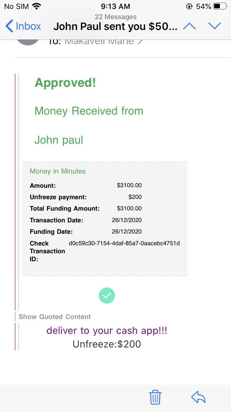 Fees to receiving my money on hold