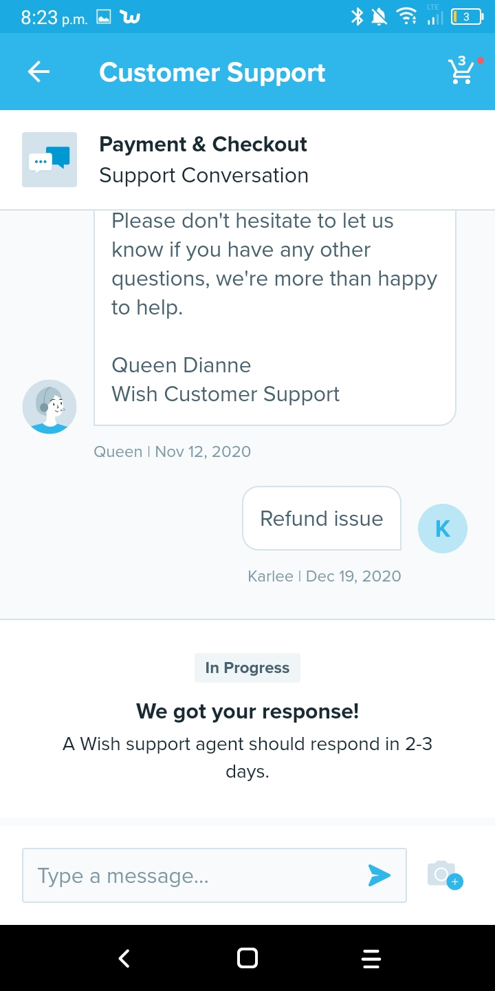Refuse to assist in fixing refund mixup