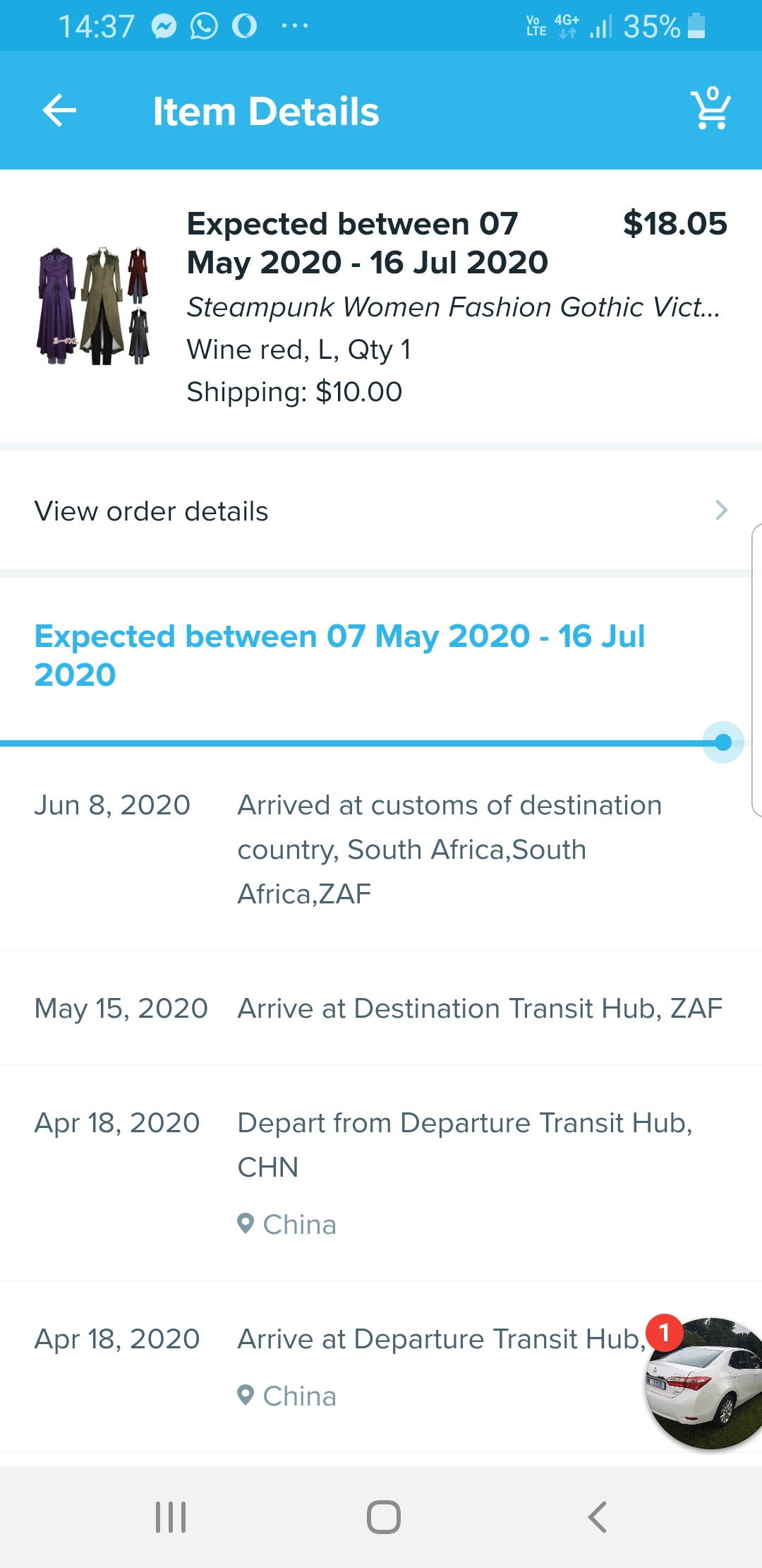 Did not receive my items ordered in March 2020