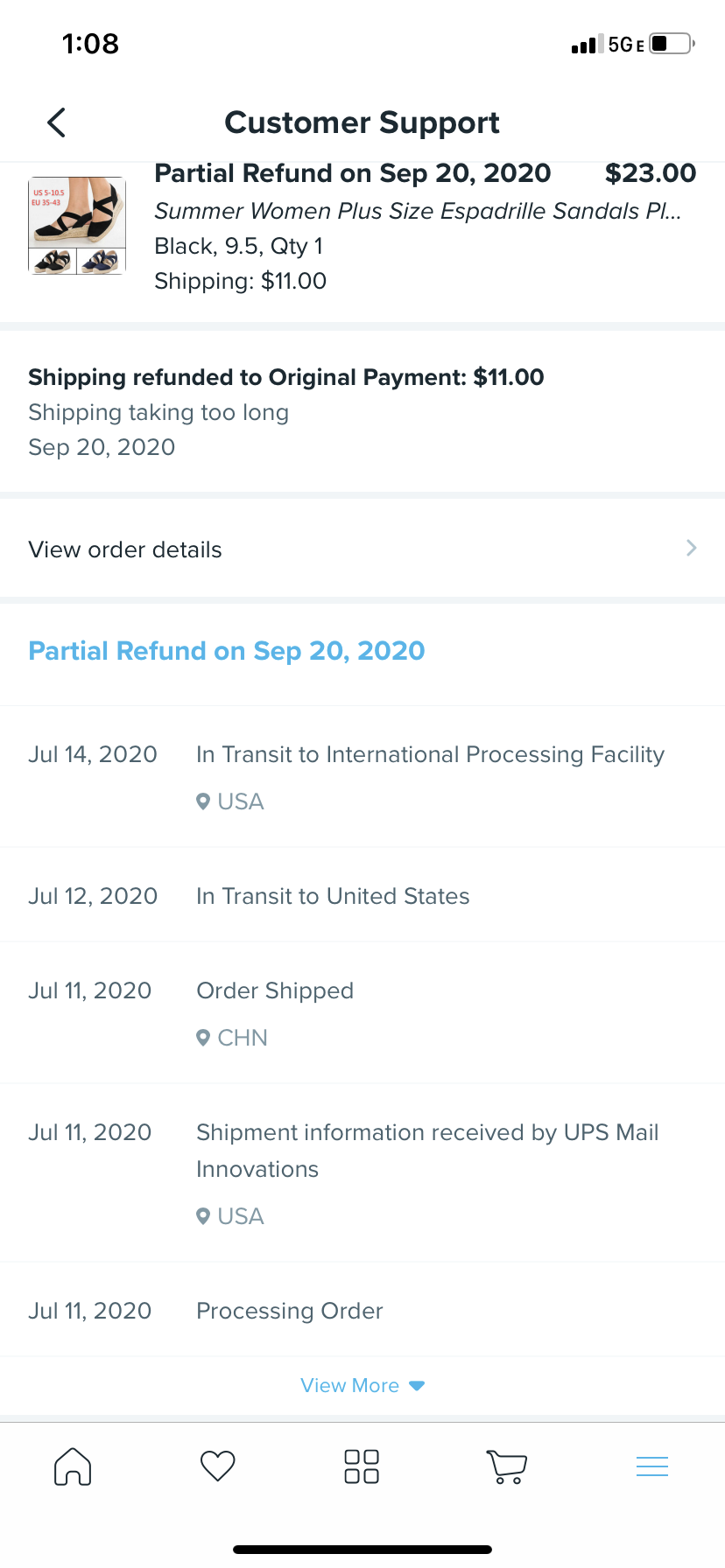 Ordered in July 2020 and never recvd merchandise