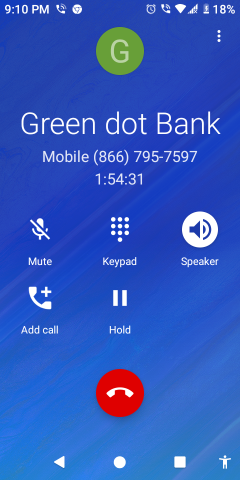 Someone is taking money from my card and I can't reach green dot