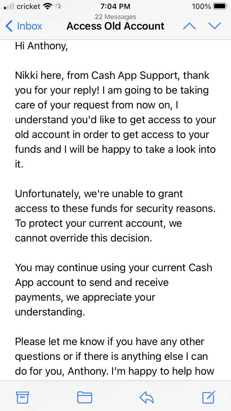 Money won't be refunded or transferred