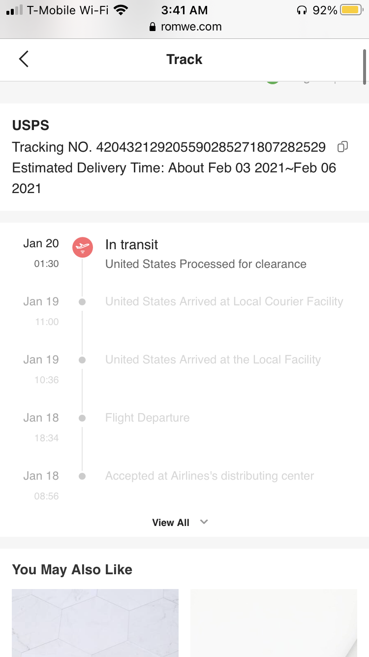 Did not receive package