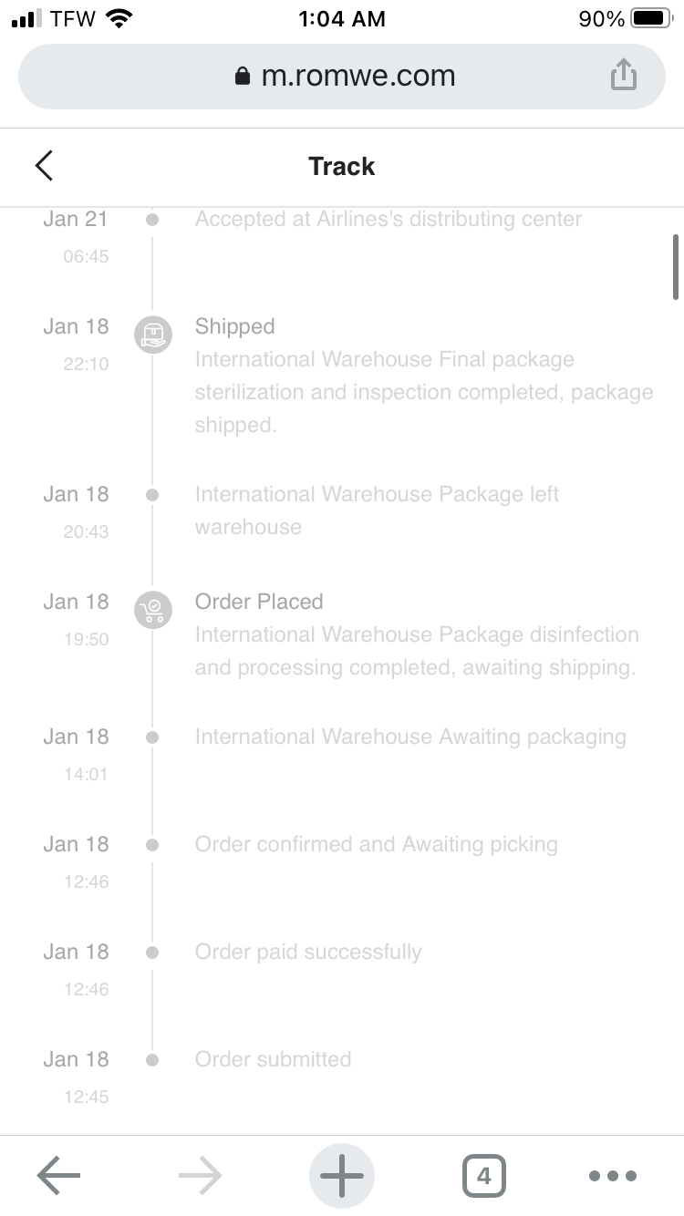 Package never came