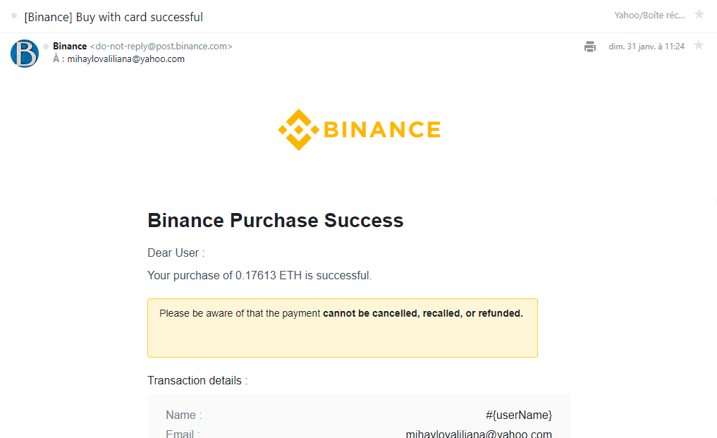 Binance deny the existence of my account