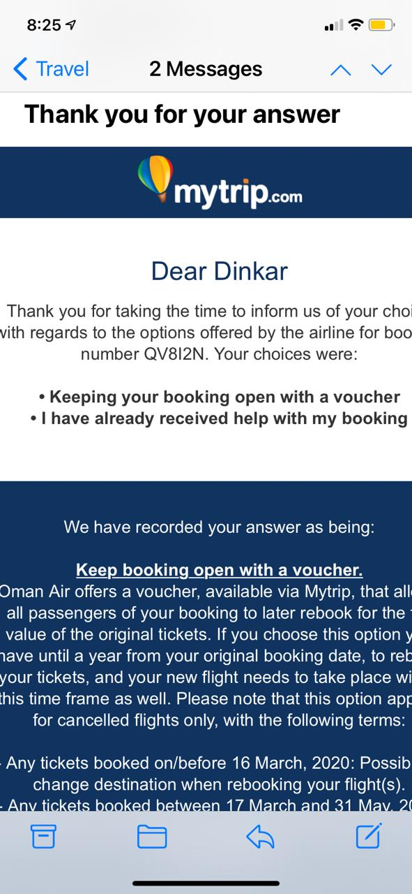 No Response by Customer Care for Open Ticket