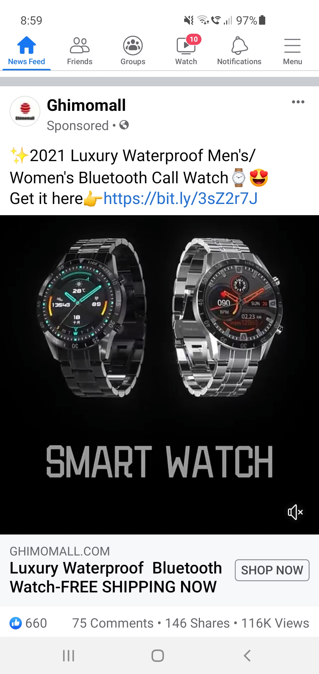 Wrong watch sent, and no charger even if I wanted to use the wrong watch.