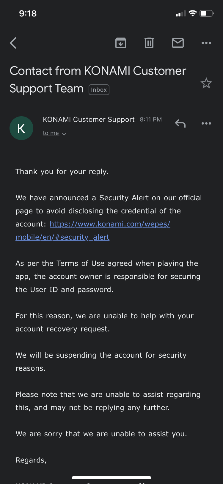 Game account got hacked and the company is not helping to retrieve the account back.
